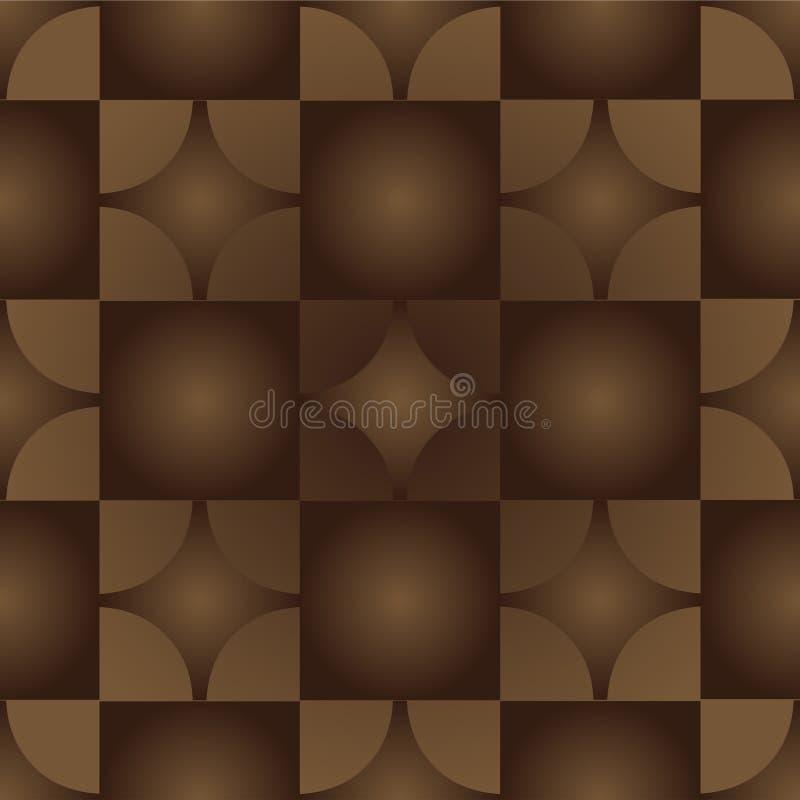 Геометрическая безшовная картина, которая имитирует паркетные полы иллюстрация штока