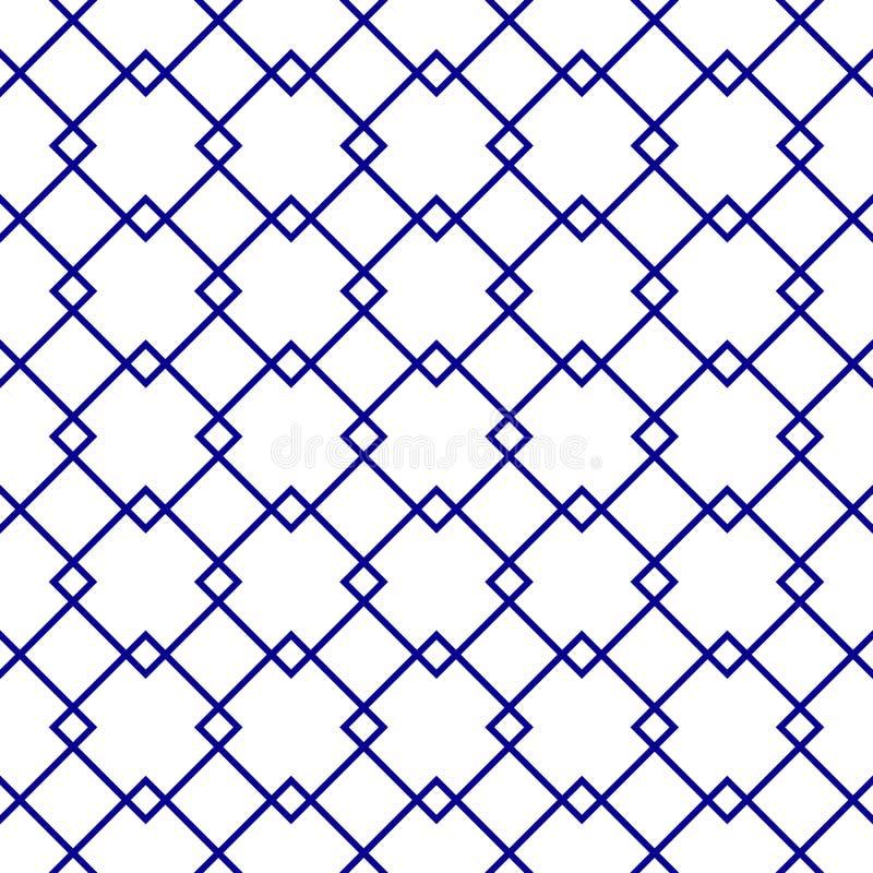 Геометрическая безшовная картина орнамента Предпосылка вектора бесплатная иллюстрация