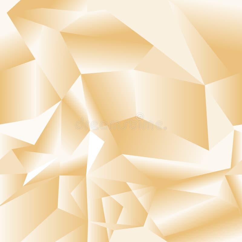 Геометрическая безшовная картина от треугольников Серая иллюстрация вектора бесплатная иллюстрация