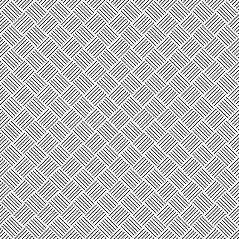 Геометрическая безшовная картина с черно-белыми пересекающаяся линия, monochrome заплетенный орнамент, классический насиживать, г иллюстрация штока