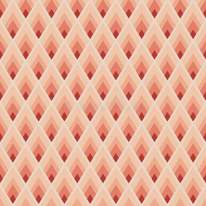 Геометрическая безшовная картина иллюстрация вектора