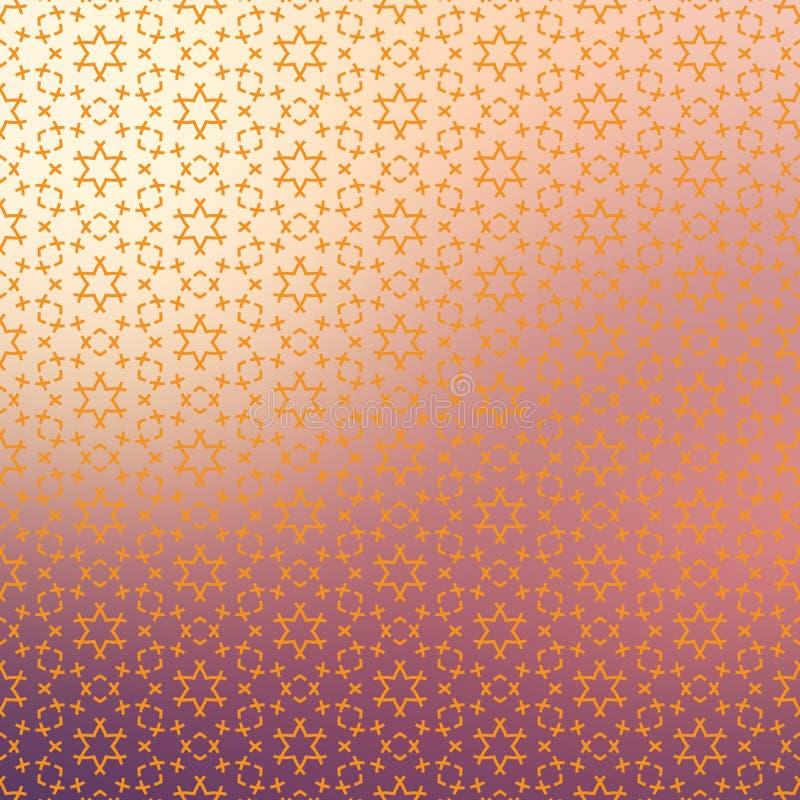 Геометрическая безшовная повторяющийся предпосылка текстуры картины звезд частицы иллюстрация штока