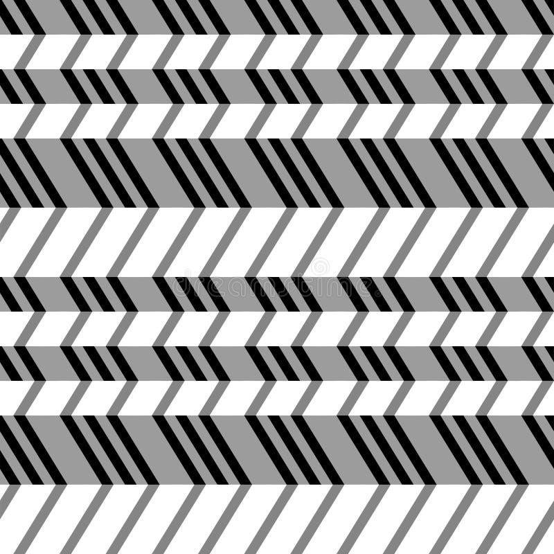 Геометрическая безшовная плоская картина, иллюзия 3d. иллюстрация вектора