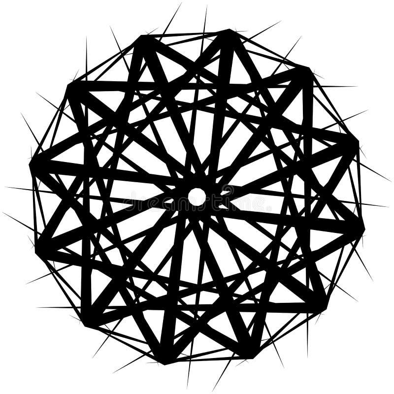 Download Геометрическая вращая форма Editable иллюстрация вектора Иллюстрация вектора - иллюстрации насчитывающей элемент, гирация: 81805400