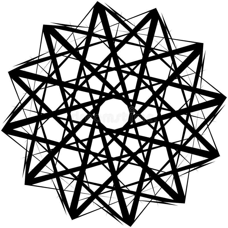 Download Геометрическая вращая форма Editable иллюстрация вектора Иллюстрация вектора - иллюстрации насчитывающей заострённый, искажение: 81805430