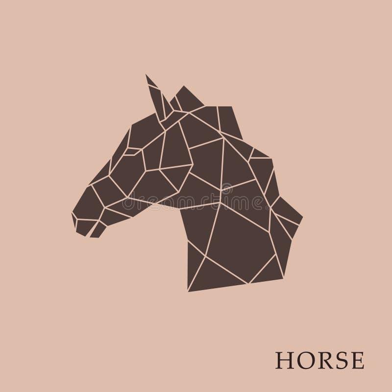 Геометрическая голова лошади на коричневой предпосылке бесплатная иллюстрация