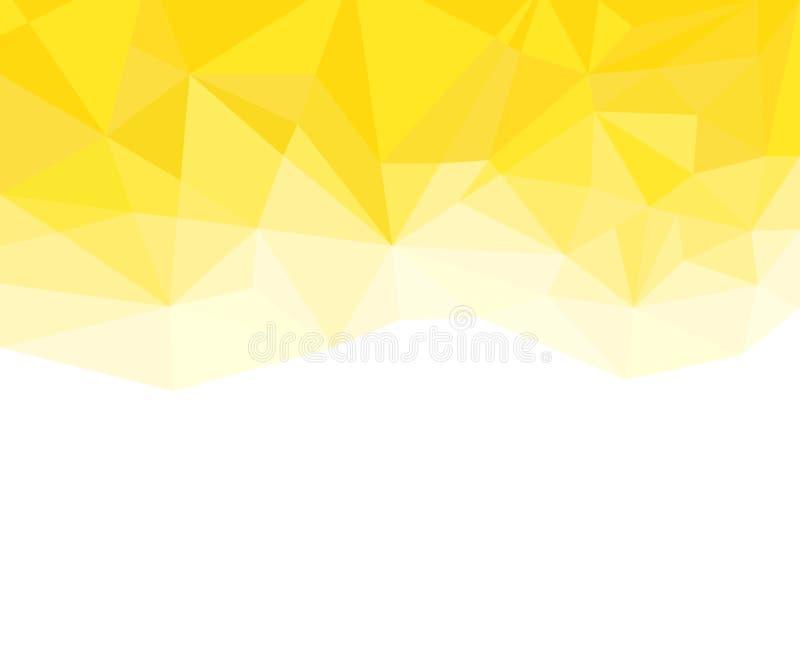 Геометрическая желтая и белая абстрактная предпосылка вектора для пользы в дизайне бесплатная иллюстрация