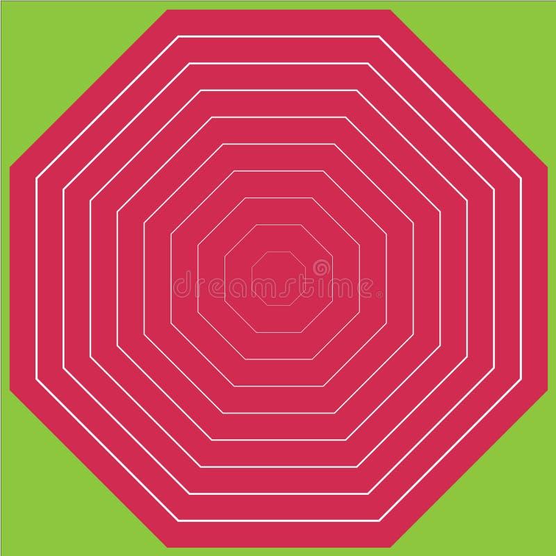 Геометрическая иллюстрация розовый восьмиугольник стоковая фотография