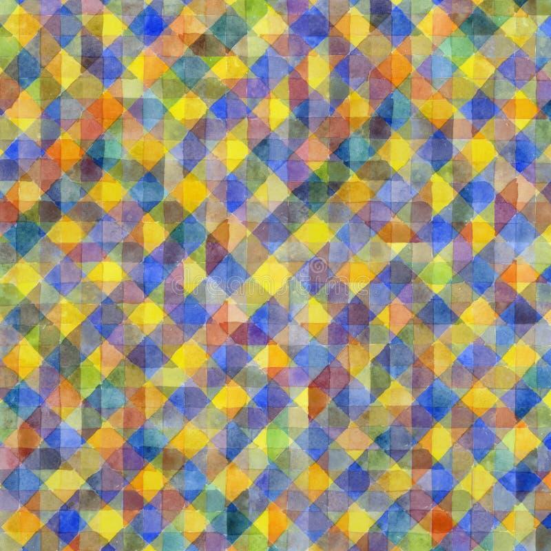 Геометрическая картина акварели бесплатная иллюстрация