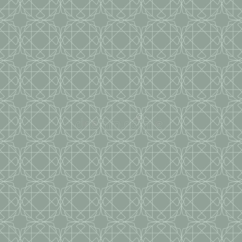 геометрическая картина безшовная Абстрактная флористическая предпосылка вектора в восточном стиле иллюстрация вектора