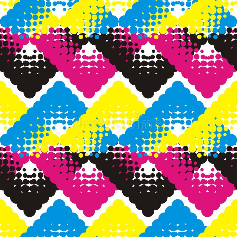 геометрическая картина безшовная Ультрамодные безшовные дизайны картины иллюстрация штока