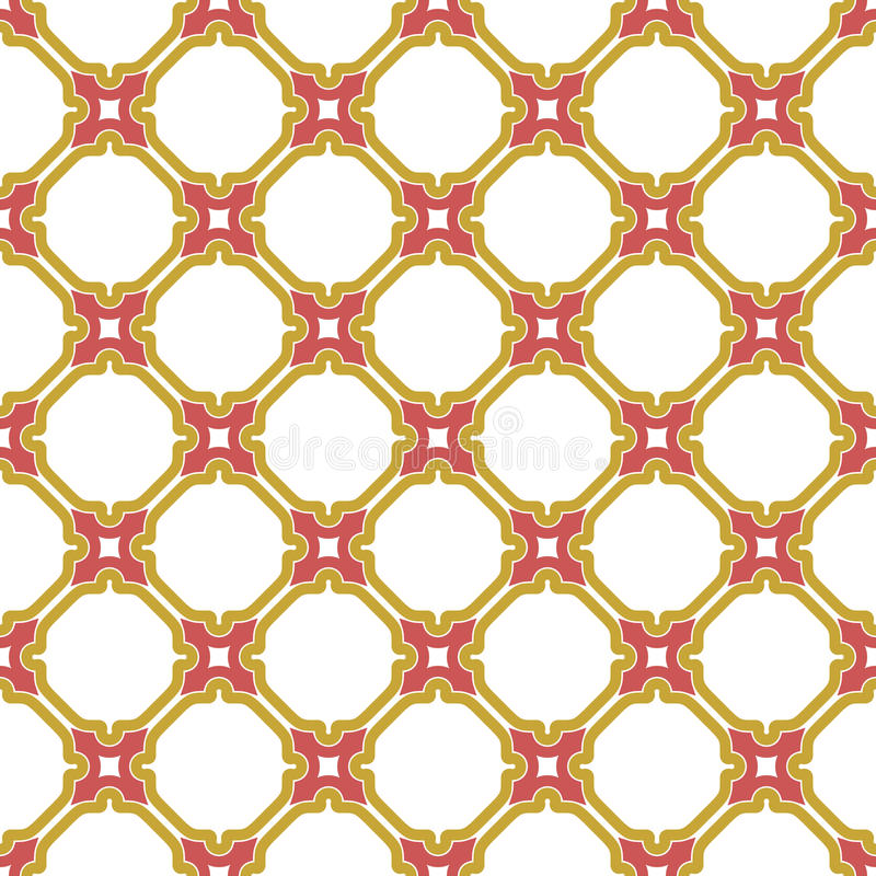 Download геометрическая картина безшовная Стоковое Изображение - изображение насчитывающей красно, кривый: 81812983