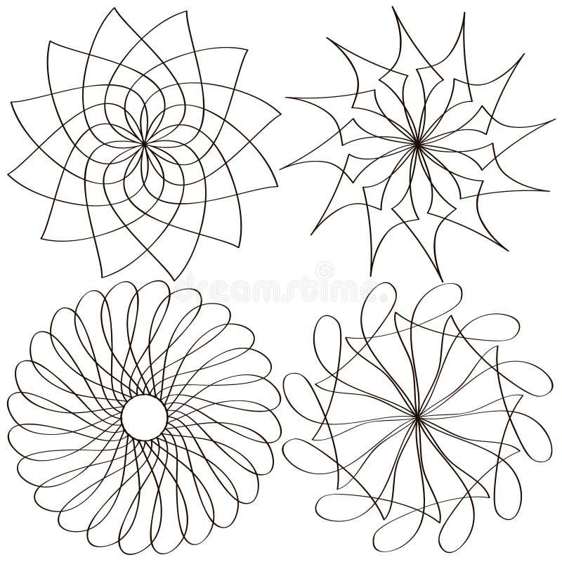 Геометрическая картина в черно-белом Страница для книжка-раскраски бесплатная иллюстрация