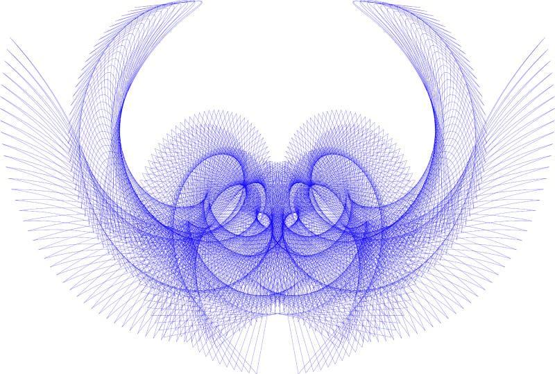 Геометрическая картина линий синих иллюстрация штока