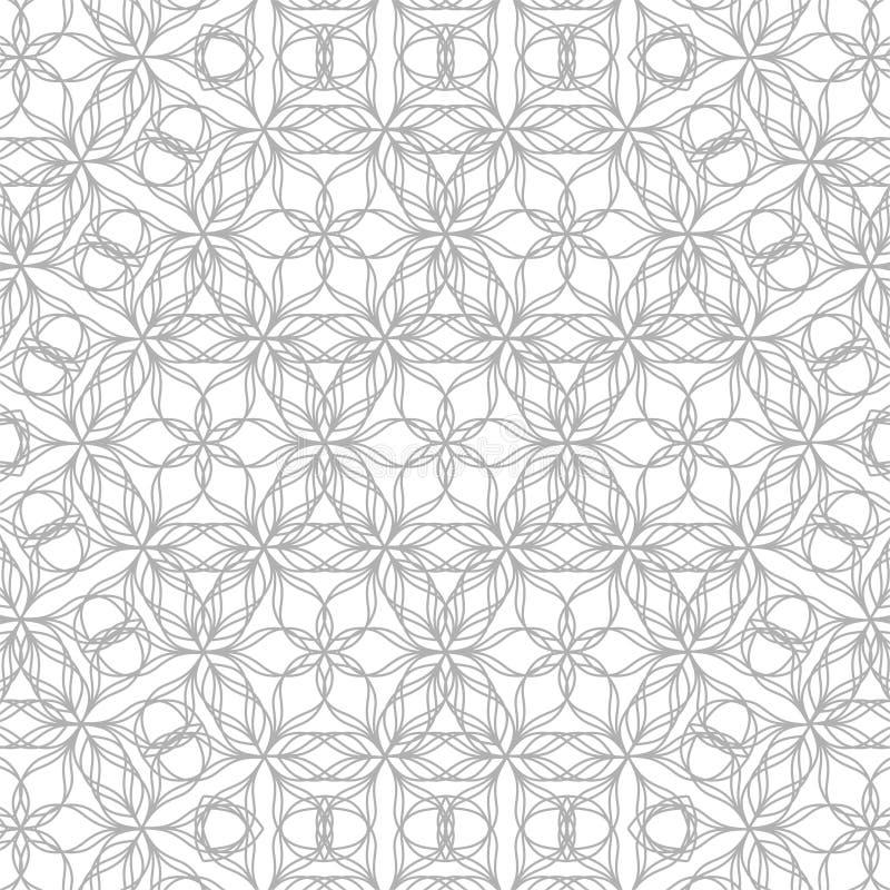 Геометрическая картина контура на белой предпосылке иллюстрация штока