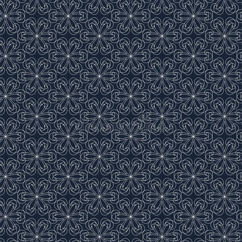 Геометрическая картина контура на голубой предпосылке иллюстрация штока