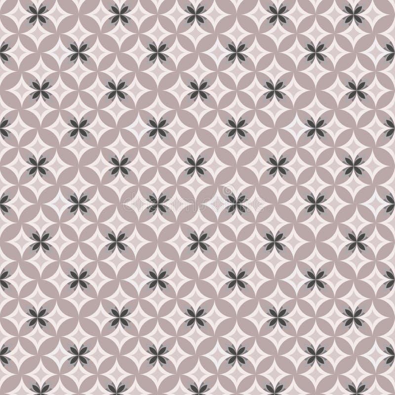 Геометрическая картина контура на розовой предпосылке иллюстрация вектора