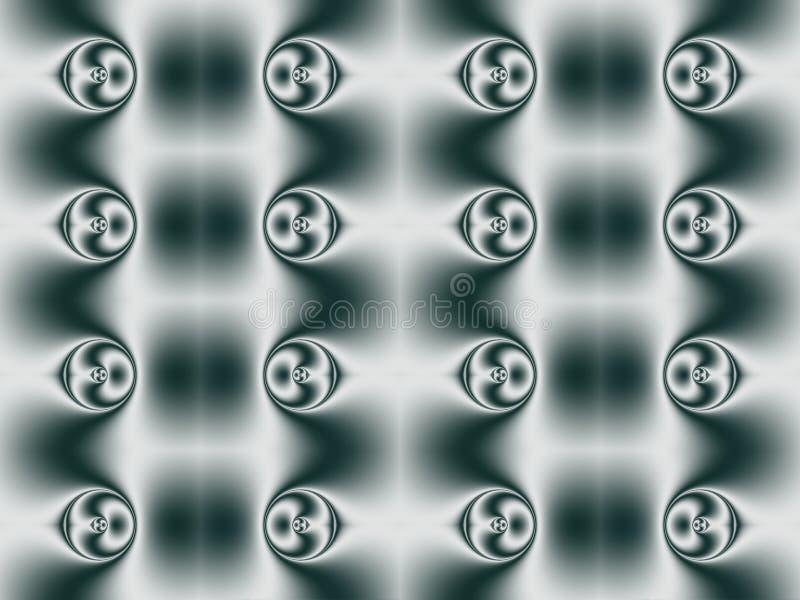 Геометрическая картина пузырей с центральной симметрией иллюстрация вектора