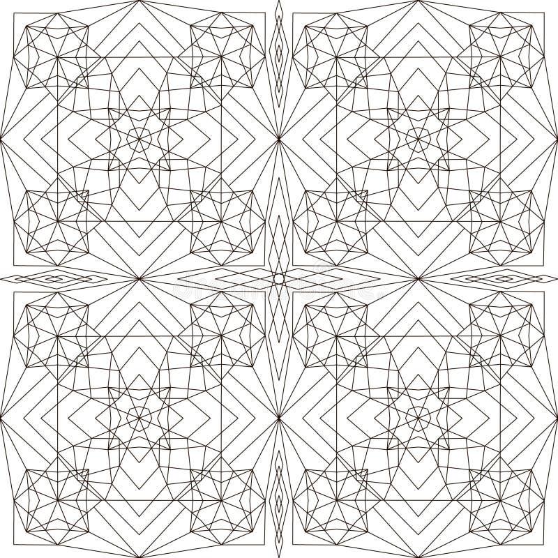 геометрическая картина Страница для книжка-раскраски иллюстрация штока