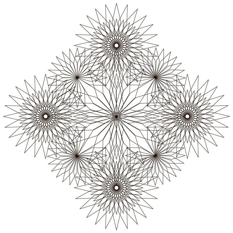 геометрическая картина Страница для книжка-раскраски бесплатная иллюстрация