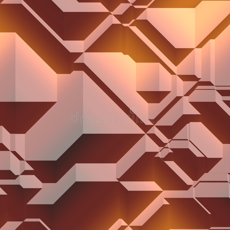 геометрическая картина 3d иллюстрация вектора