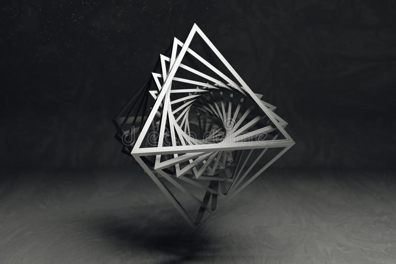 Геометрическая концепция искусства стоковое фото rf