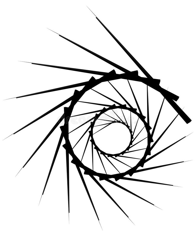 Download Геометрическая круговая спираль Абстрактная угловая, нервная форма в Rotat Иллюстрация вектора - иллюстрации насчитывающей нервно, свободно: 81806914