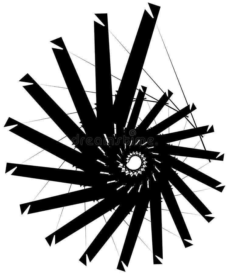 Download Геометрическая круговая спираль Абстрактная угловая, нервная форма в Rotat Иллюстрация вектора - иллюстрации насчитывающей вихрь, свободно: 81807138