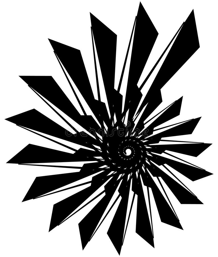 Download Геометрическая круговая спираль Абстрактная угловая, нервная форма в Rotat Иллюстрация вектора - иллюстрации насчитывающей искажение, нервно: 81807156