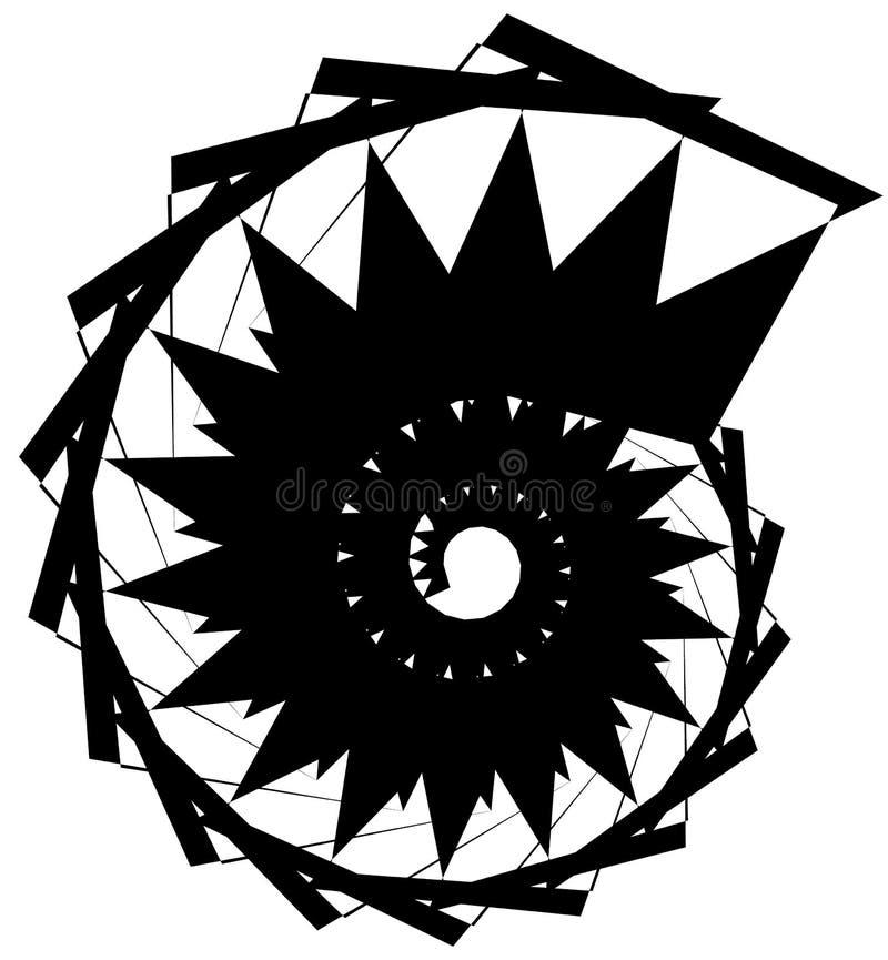 Download Геометрическая круговая спираль Абстрактная угловая, нервная форма в Rotat Иллюстрация вектора - иллюстрации насчитывающей центростремительно, минимально: 81807230