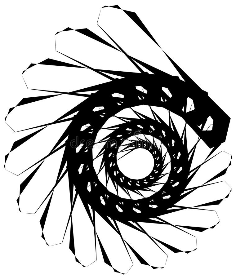 Download Геометрическая круговая спираль Абстрактная угловая, нервная форма в Rotat Иллюстрация вектора - иллюстрации насчитывающей способ, центробежно: 81807271