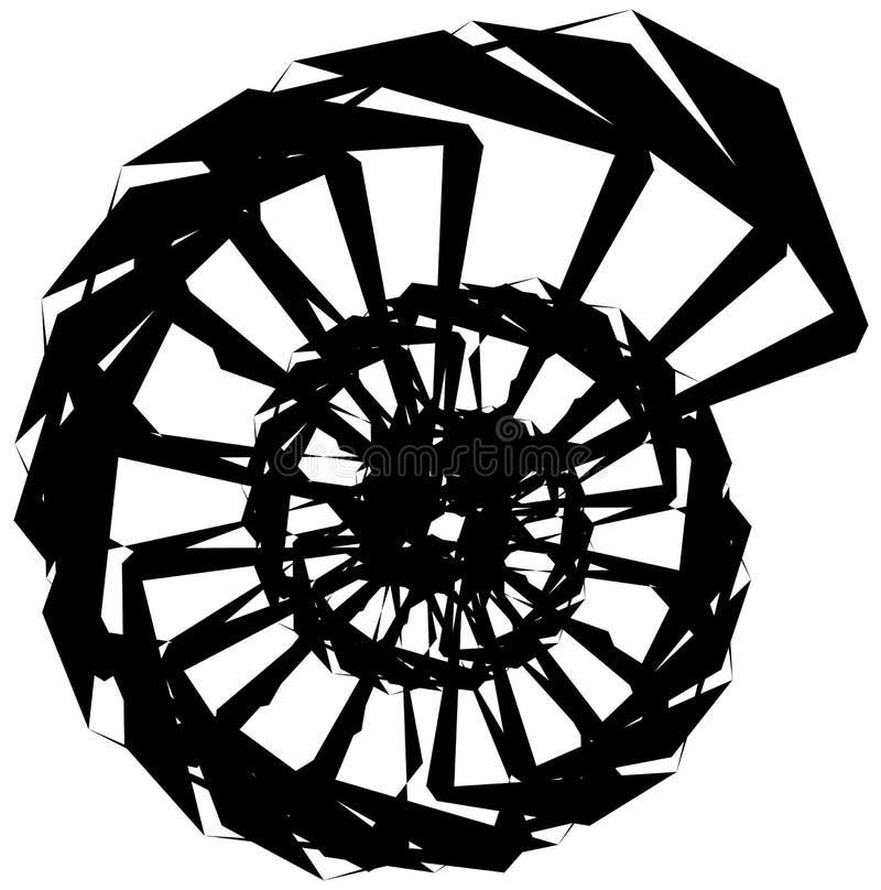 Download Геометрическая круговая спираль Абстрактная угловая, нервная форма в Rotat Иллюстрация вектора - иллюстрации насчитывающей радиально, геометрия: 81807280