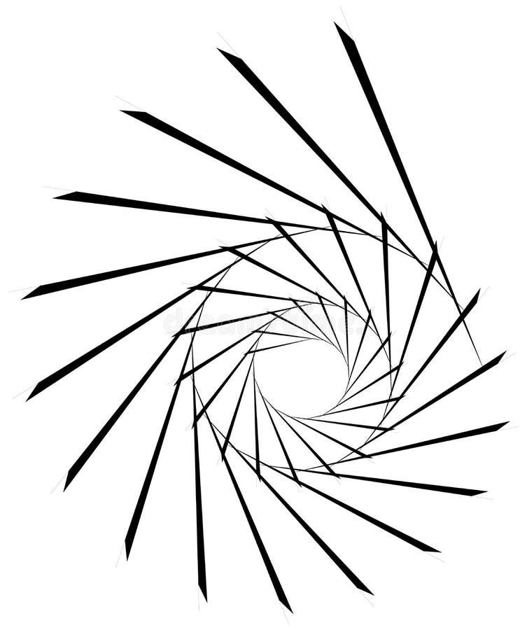Download Геометрическая круговая спираль Абстрактная угловая, нервная форма в Rotat Иллюстрация вектора - иллюстрации насчитывающей иллюзорно, форма: 81807325