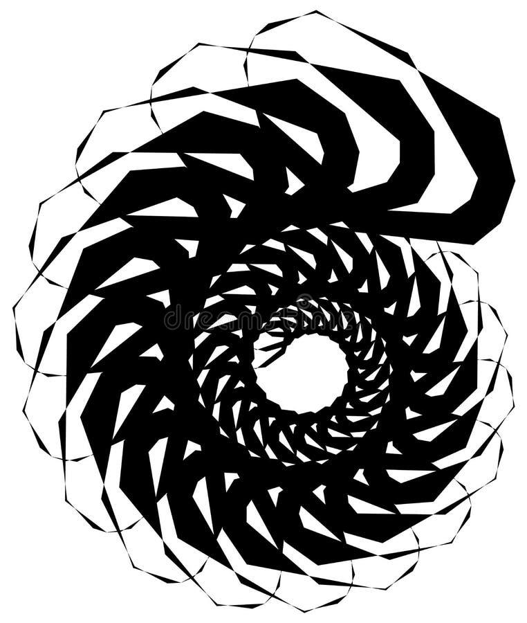 Download Геометрическая круговая спираль Абстрактная угловая, нервная форма в Rotat Иллюстрация вектора - иллюстрации насчитывающей разносторонне, иллюзорно: 81807460