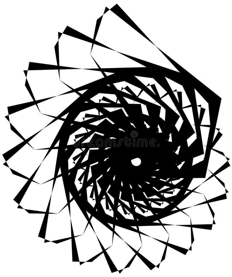 Download Геометрическая круговая спираль Абстрактная угловая, нервная форма в Rotat Иллюстрация вектора - иллюстрации насчитывающей helix, геометрия: 81807997
