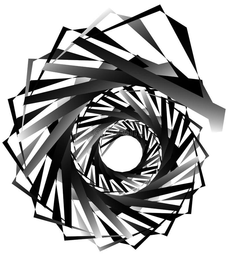 Download Геометрическая круговая спираль Абстрактная угловая, нервная форма в Rotat Иллюстрация вектора - иллюстрации насчитывающей гирация, monochrome: 81808018