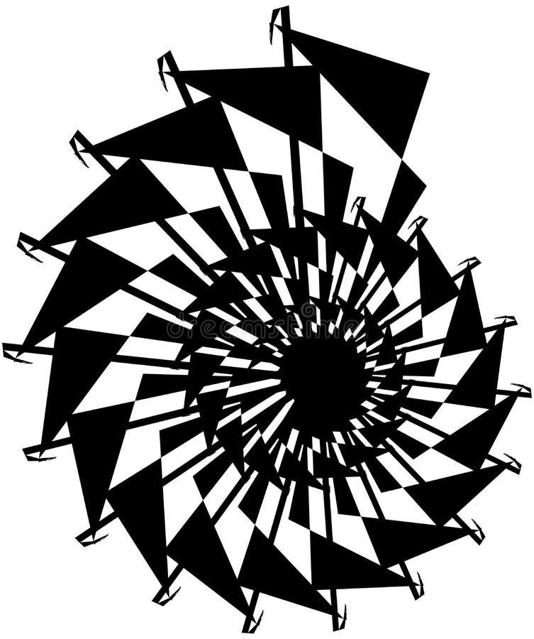Download Геометрическая круговая спираль Абстрактная угловая, нервная форма в Rotat Иллюстрация вектора - иллюстрации насчитывающей искажение, график: 81808021
