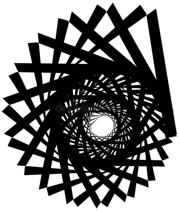 Download Геометрическая круговая спираль Абстрактная угловая, нервная форма в Rotat Иллюстрация вектора - иллюстрации насчитывающей центростремительно, конспектов: 81808051