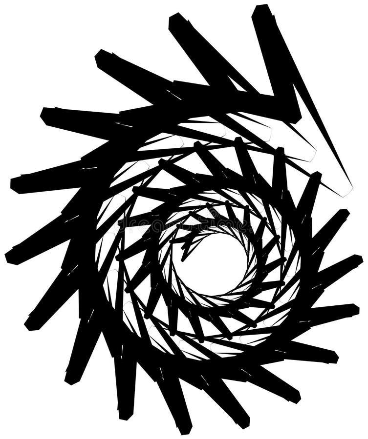 Download Геометрическая круговая спираль Абстрактная угловая, нервная форма в Rotat Иллюстрация вектора - иллюстрации насчитывающей минимально, геометрия: 81808089