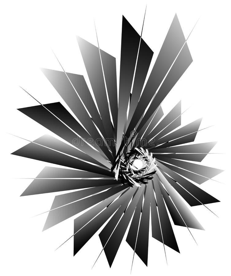 Download Геометрическая круговая спираль Абстрактная угловая, нервная форма в Rotat Иллюстрация вектора - иллюстрации насчитывающей радиально, геометрическо: 81808110