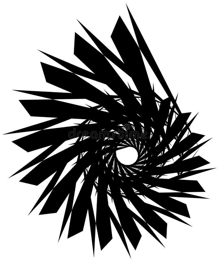 Download Геометрическая круговая спираль Абстрактная угловая, нервная форма в Rotat Иллюстрация вектора - иллюстрации насчитывающей разносторонне, центробежно: 81808141