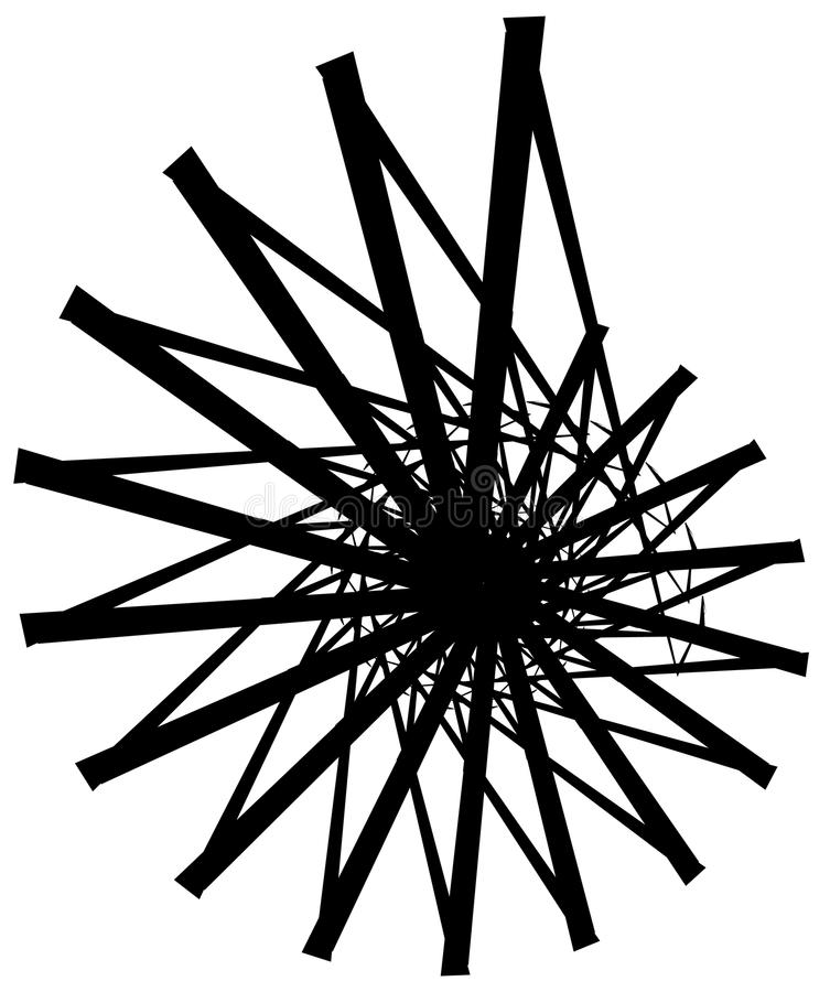Download Геометрическая круговая спираль Абстрактная угловая, нервная форма в Rotat Иллюстрация вектора - иллюстрации насчитывающей иллюстрация, центробежка: 81808166