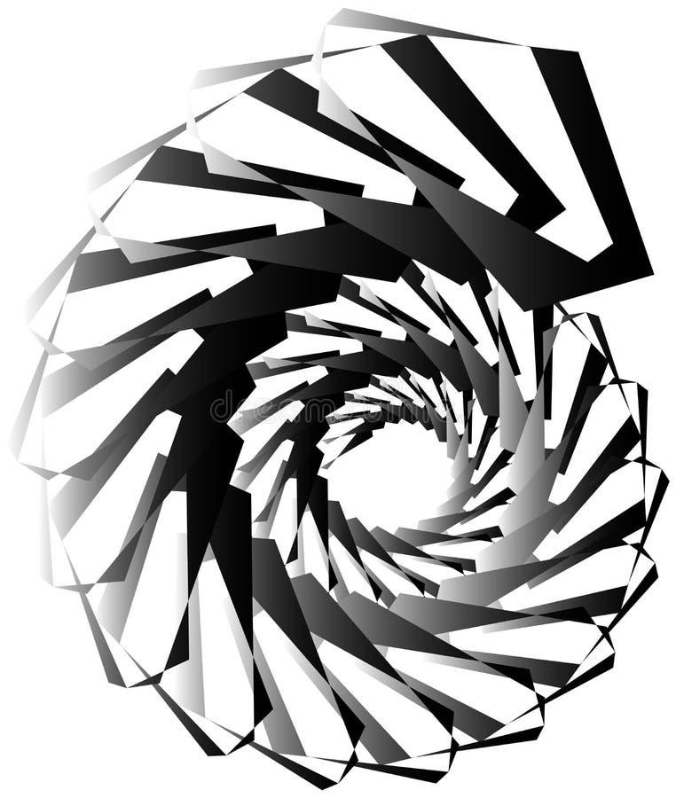 Download Геометрическая круговая спираль Абстрактная угловая, нервная форма в Rotat Иллюстрация вектора - иллюстрации насчитывающей вихрь, центробежка: 81808187
