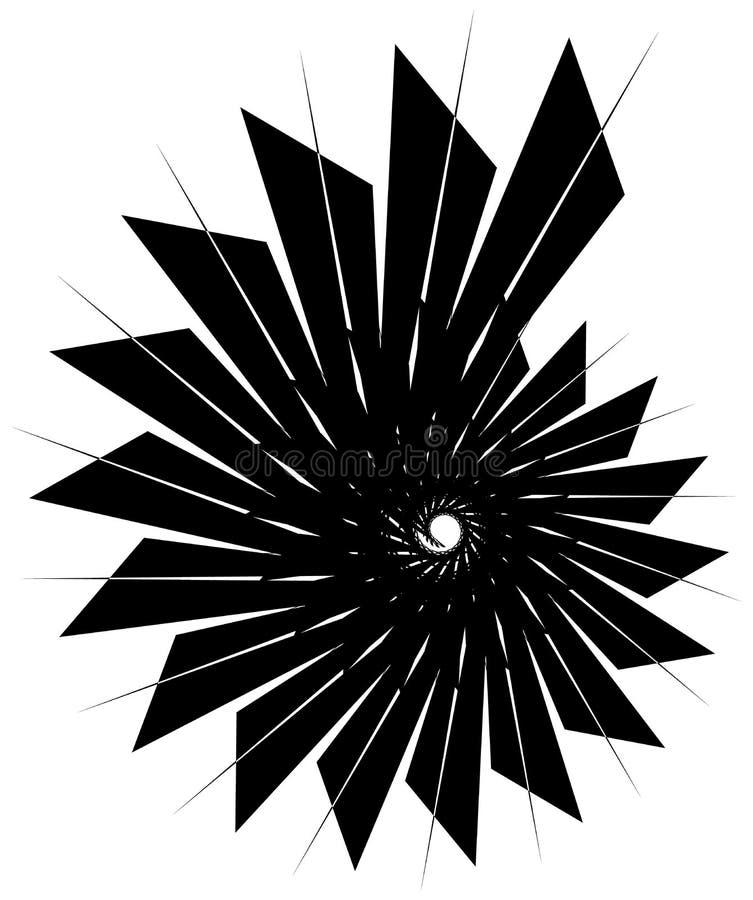 Download Геометрическая круговая спираль Абстрактная угловая, нервная форма в Rotat Иллюстрация вектора - иллюстрации насчитывающей monochrome, спираль: 81808288