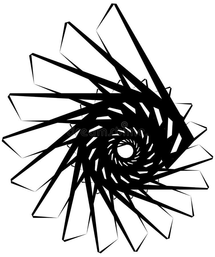 Download Геометрическая круговая спираль Абстрактная угловая, нервная форма в Rotat Иллюстрация вектора - иллюстрации насчитывающей ангидрина, monochrome: 81808301