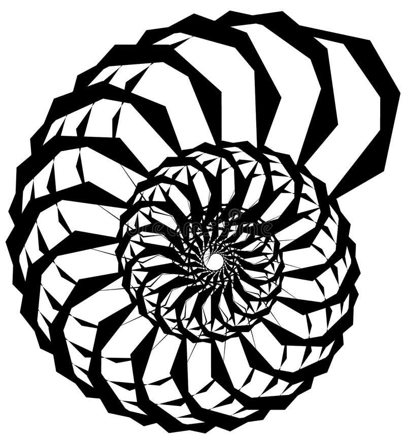 Download Геометрическая круговая спираль Абстрактная угловая, нервная форма в Rotat Иллюстрация вектора - иллюстрации насчитывающей наконечников, конспектов: 81808328