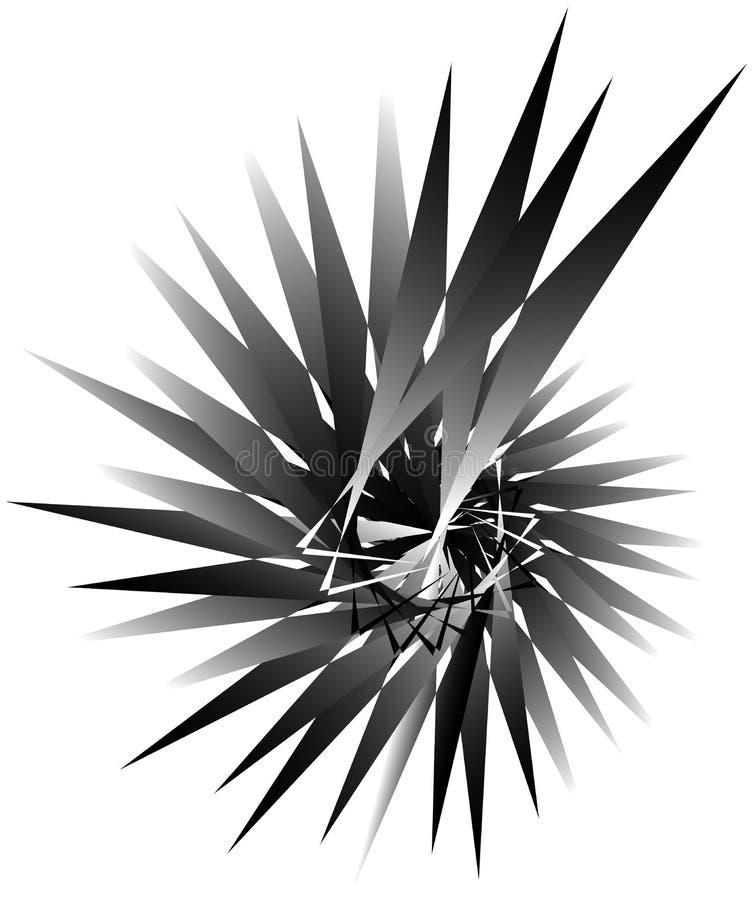 Download Геометрическая круговая спираль Абстрактная угловая, нервная форма в Rotat Иллюстрация вектора - иллюстрации насчитывающей динамически, нервно: 81808736