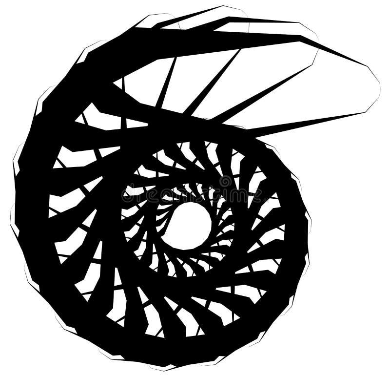 Download Геометрическая круговая спираль Абстрактная угловая, нервная форма в Rotat Иллюстрация вектора - иллюстрации насчитывающей вихрь, curlicue: 81808899