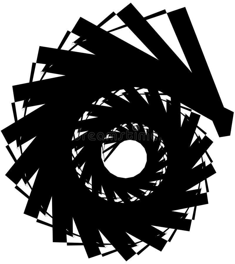 Download Геометрическая круговая спираль Абстрактная угловая, нервная форма в Rotat Иллюстрация вектора - иллюстрации насчитывающей минимально, линии: 81808935