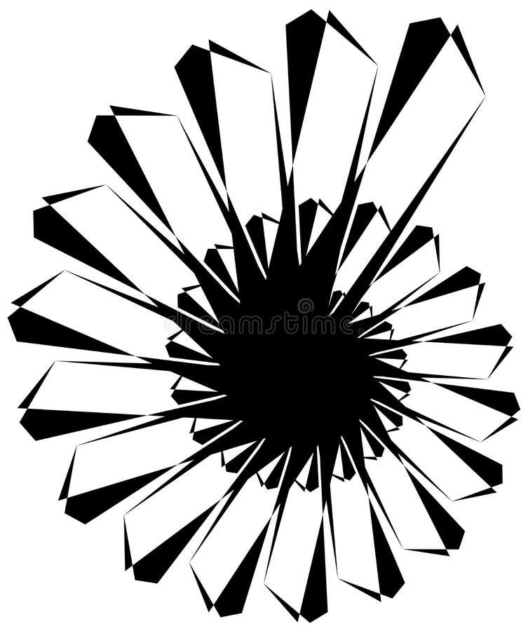 Download Геометрическая круговая спираль Абстрактная угловая, нервная форма в Rotat Иллюстрация вектора - иллюстрации насчитывающей элемент, вихрь: 81808941